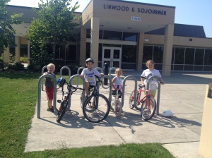 Families at Linwood Elementary took action to make walking and bicycling to school safer.
